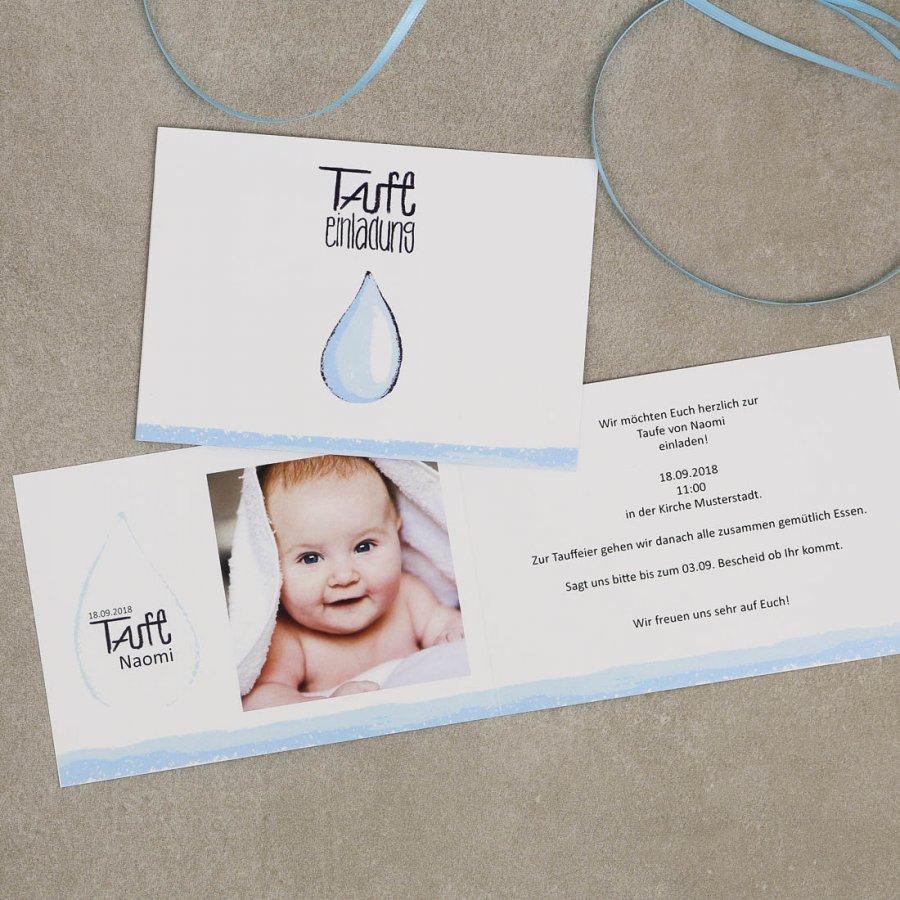 Wassertropfen Einladung Zur Taufe