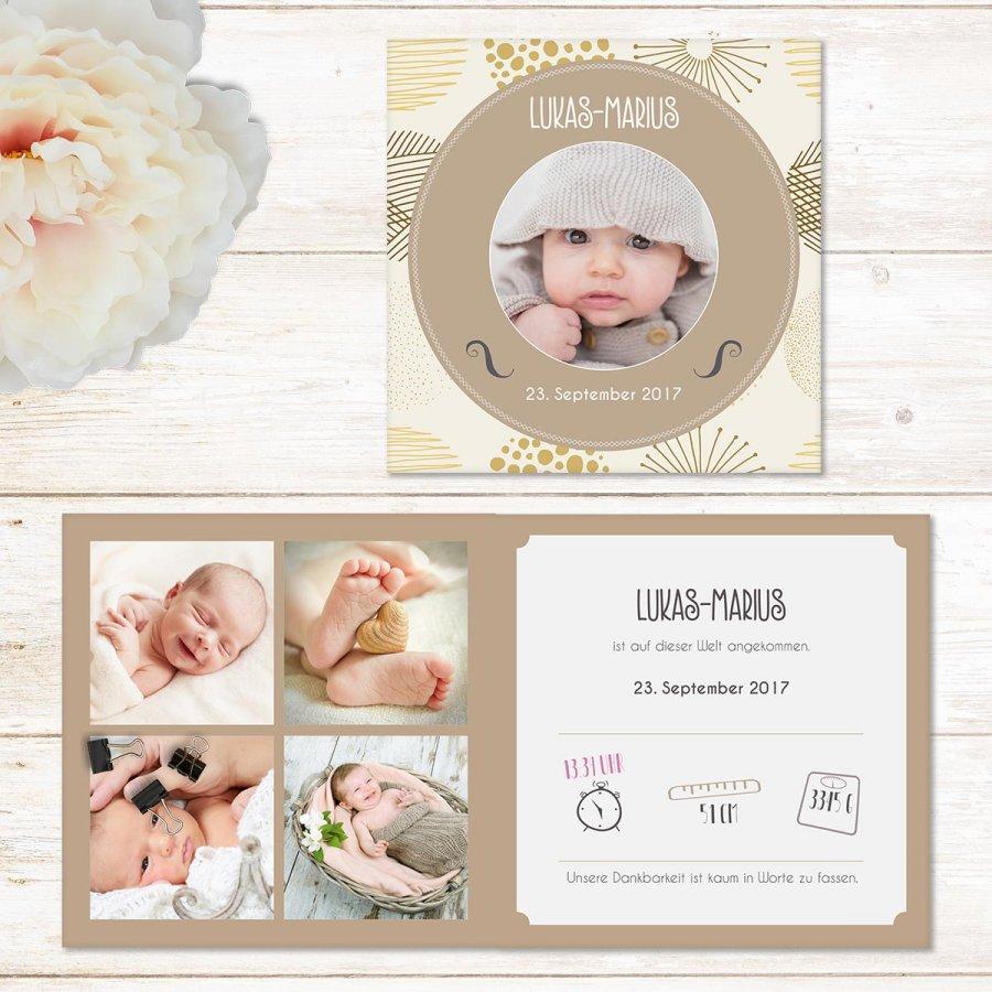 Vintage baby quadratische geburtskarte - Vintage geburtskarten ...
