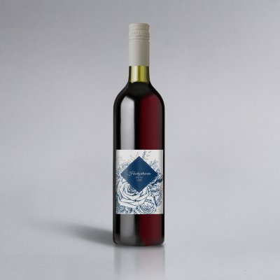 Blue Flourish | Weinlabel