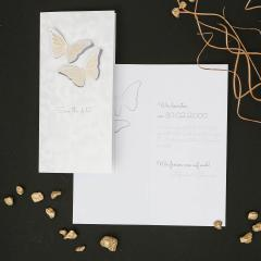 Butterfly Loves | Save the Date Klappkarte DINLang Hochformat