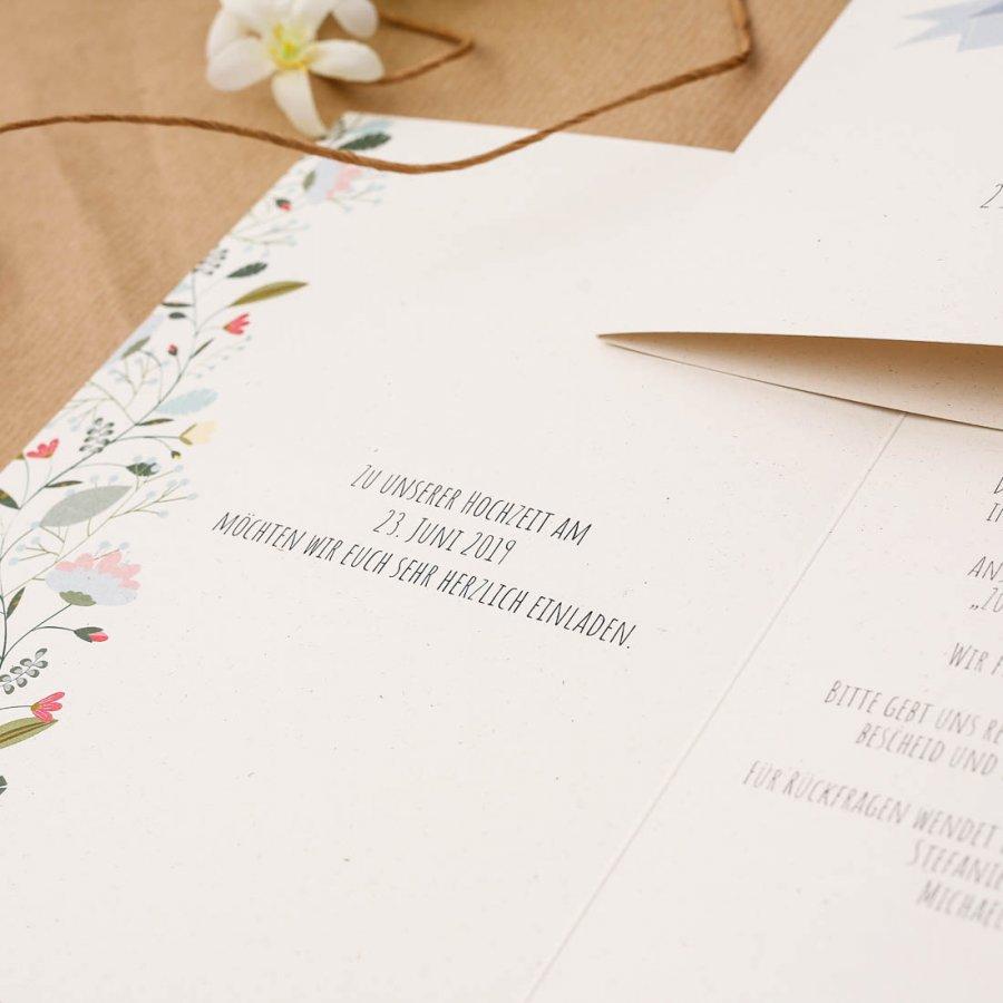 Vintage Flower Einladung A5 Klappkarte
