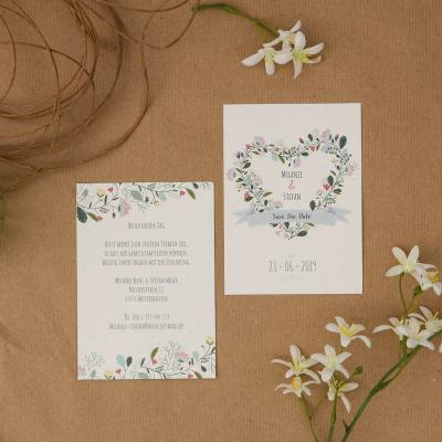 Vintage Flower | Save the Date - Karte
