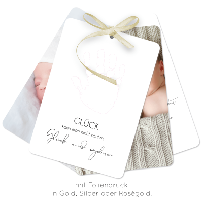 Happy Hand | Geburtskarte 4er Set A6