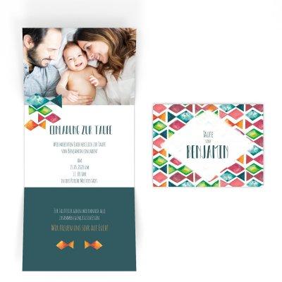 Bunte Taufe | Einladung