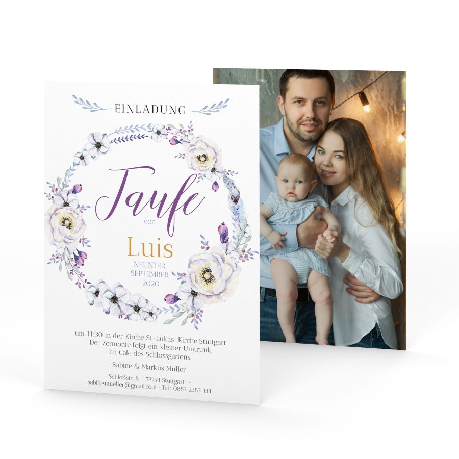 Fiducia | Einladung Zur Taufe Postkarte A6