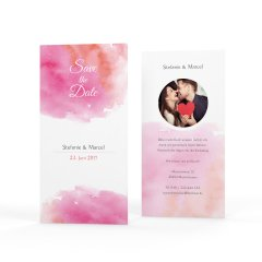 Watercolor | Save the Date Karte DinLang hoch