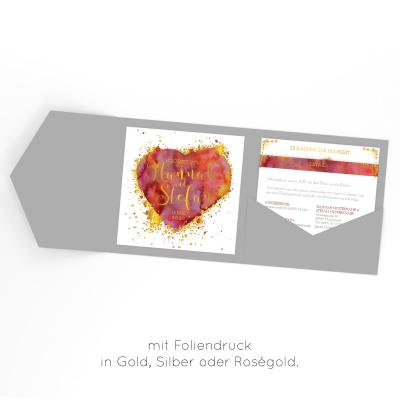 Fireheart Gold | Einladung Pocketfold
