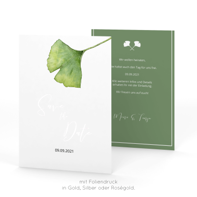 Ginkgo | Save the Date