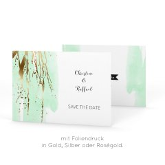 Greenery | Save the Date Postkarte