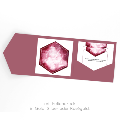 Hexagon | Einladung Pocketfold