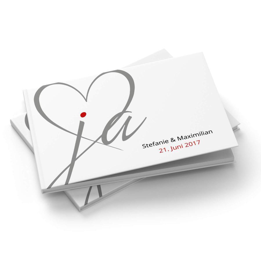 Inspirierend Gästebuch Hochzeit Seite Gestalten Beste Wahl Ja | Gästebuch A4 Quer
