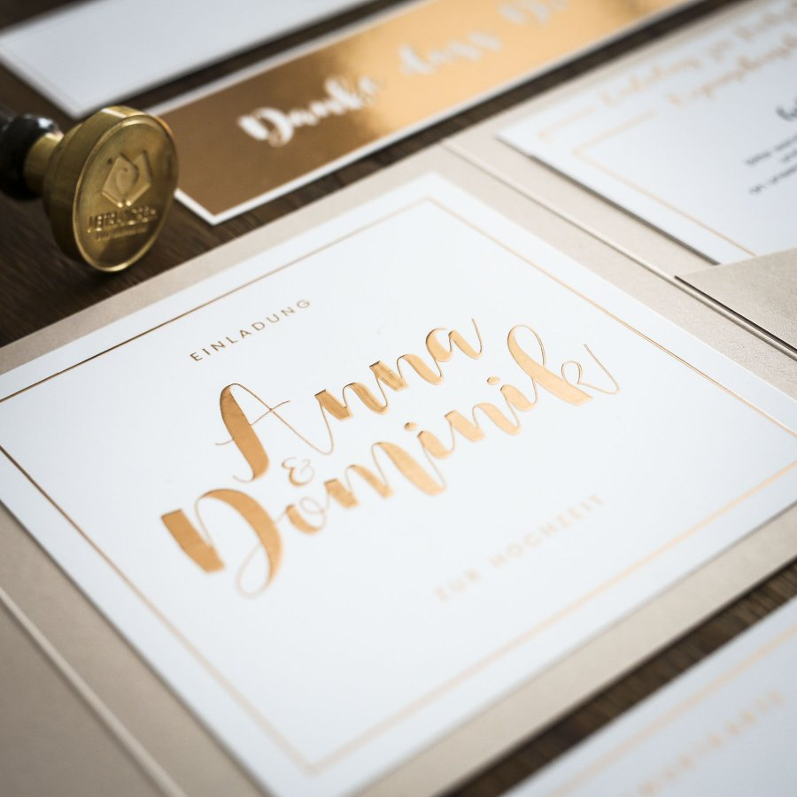 Kalligraphie Einladung Pocketfold Zur Hochzeit