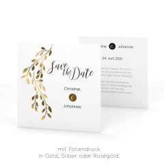 Linadara | Save the Date - Postkarte quadratisch