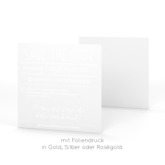 Minimal | Save the Date - Postkarte quadratisch