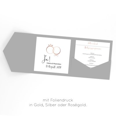 Rings of Love | Einladung Pocketfold