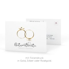 Rings of Love | Antwortkarte