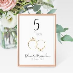Rings of Love | Tischnummern-Set