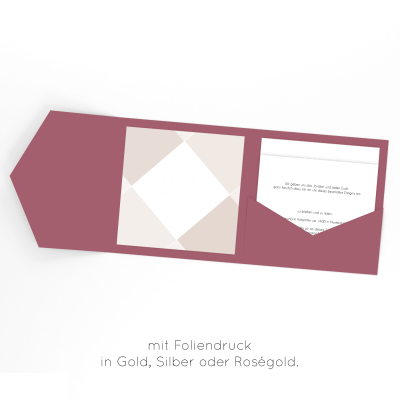 Square | Einladung Pocketfold