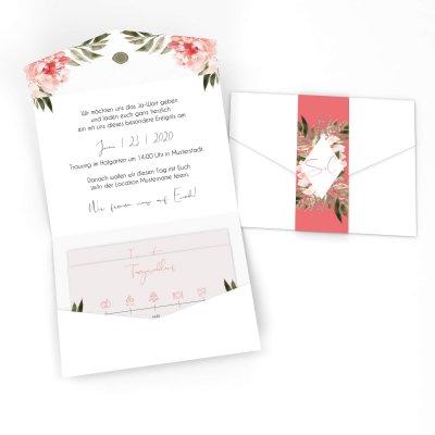 6f1486ff5b516 Pocketfolds, Klappkarten mit Einschub für die Einladung zur Hochzeit